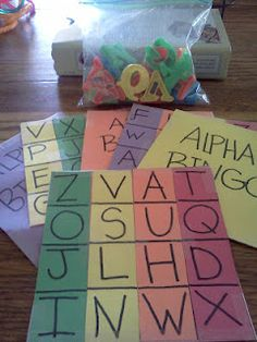 Alphabet Bingo...great for children to learn the Letters by sight! :)