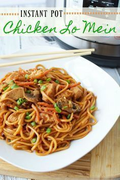 Want a meal that's fast and always satisfies? Check out our better-than-take-out Chicken Lo Mein that's made in the Instant Pot!