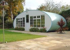 A beautiful space-age garden shed