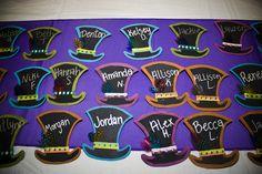 Cute Mad Hatter Tea Party recruitment theme name tags. Sorority Recrtuitment & Bid Day Theme!