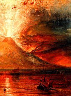Joseph Mallord William (1775-1851) Mount Vesuvius in Eruption, detail, between…