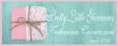 Whoo Hoo it's time for the June Giveaway!!! This month's giveaway is all about pretty little things. I've purchased a few things for this giveaway that I think will make you smile. Kelly from Arcadian Designs is generously contributing a perfume sample pack from her etsy shop too, score!. Look what