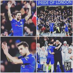 05/01/2019 - Iconic moment as Cesc Fabregas bids an emotional  goodbye to Chelsea Fans after he is substituted by Kante against FA Cup tie against Nottingham forest.