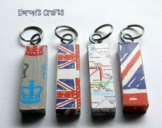 Heron's Crafts: Olympic Countdown - 11 Weeks to go - Olympic Keyrings
