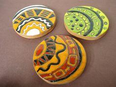 Tiles glazed with cuerda seca