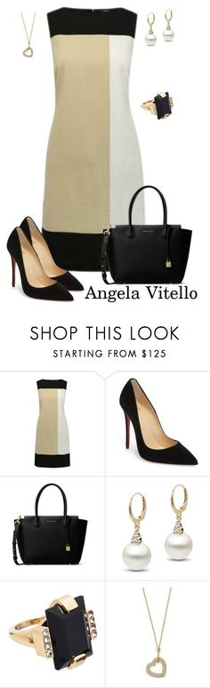 """Untitled #982"" by angela-vitello on Polyvore featuring Christian Louboutin, MICHAEL Michael Kors, Marni and Michael Kors"