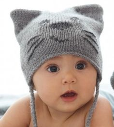 Little nugget. Can't wait to have kids some day.   Kedi-Figürlü-Örgü-Bebek-Bere-Modeli
