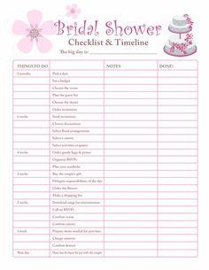 Image result for bridal shower planning worksheet