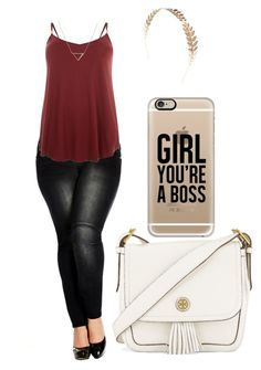 nice... by kianne-mlv on Polyvore featuring moda, City Chic, Tory Burch, Banana Republic, Casetify, Wet Seal and plus size clothing