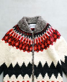 """NOMA t.d. (ノーマ ティーディー) """"Hand Knitted Cowichan Sweater"""" 