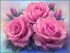 Rosie, more roses coming your way, to wish you well and cheer up your day.