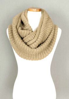 Knitted Infinity Scarf. Very comfortable and warm. Great for winter! Length: 143cm (56.30 in.) Width: 37cm (14.57in.)  Please allow 1-2 weeks for item to be shipped