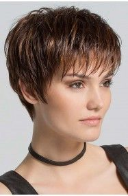Scape by Ellen Wille Wigs - Hand Tied, Monofilament Crown, Lace Front Wig - kurzhaarfrisuren Short Hairstyles For Thick Hair, Haircut For Thick Hair, Short Pixie Haircuts, Short Hair With Layers, Curly Hair Styles, Natural Hairstyles, Pixie Hairstyles, Layered Hairstyles, Celebrity Hairstyles
