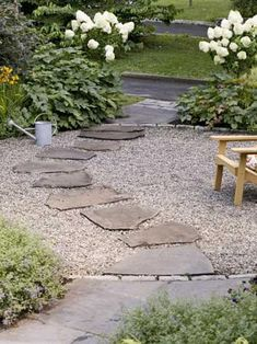 New backyard patio ideas on a budget diy driveways ideas Terrasse auf ein Budget Einfahrten New backyard patio ideas on a budget diy driveways ideas - Modern patio on a budget driveways Pea Gravel Patio, Gravel Landscaping, Cement Patio, Flagstone Patio, Brick Patios, Landscaping Ideas, Walkway Ideas, Gravel Driveway, Florida Landscaping