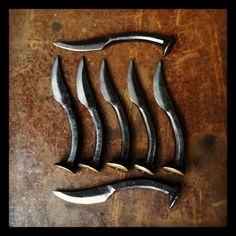 7 Personalized Groomsmen Gifts - railroad spike knives - item K1. $266.00, via Etsy.