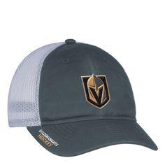 Vegas Golden Knights adidas On Ice Meshback Slouch Flex Hat - Gray White 39622269c787