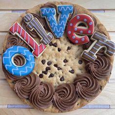 Cake Cookies, Sugar Cookies, Cupcake Cakes, Giant Cookies, Girly Cakes, Cute Cakes, Giant Cookie Recipes, Cookie Ideas, Cookie Cake Designs