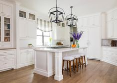 Looking for White Cottage Kitchen ideas? Browse White Cottage Kitchen images for decor, layout, furniture, and storage inspiration from HGTV. Grey Kitchen Island, All White Kitchen, New Kitchen, Hidden Kitchen, Kitchen Ideas, Kitchen Planning, Pantry Ideas, Kitchen Islands, Kitchen Pantry