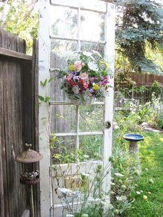 The old door for garden decor!