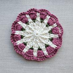 Small Spring Mandala Crochet Pattern 2021 Furls Crochet Blog Hop - Free Pattern @oombawkadesigncrochet