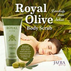 Melembapkan & menyehatkan kulitmu. Manjakan soremu dgn Royal Olive Body Scrub dan rasakan kebaikan kandungan zaitun.  order via WA 085722282141