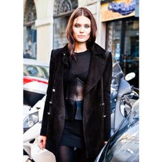 Bianca Balti (in) After Iceberg FW 12.13 Lovely to catch Bianca... -... ❤ liked on Polyvore