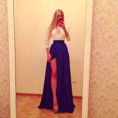 Vestido Renda Com Saia Fenda - R$ 99,00 no MercadoLivre