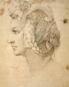 Miguel Ángel Buonarroti - Study of Head
