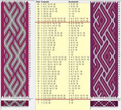 Two opposite threadings, same movements // 20 tarjetas, 3 colores, repite cada 32 movimientos // sed_694 & sed_694a diseñado en GTT༺❁