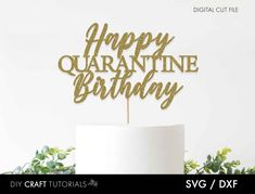 layered cutting file cricut and silhouette 3d cake topper svg birthday card svg cake topper svg Happy Birthday layered svg 3D