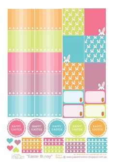 papier kreation: Easter Bunny Printables Planner Sticker Part 1