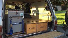 Lost World's Toyota Landcruiser Rear Sleeping/Storage Platform Best Camping Gear, Truck Camping, Diy Camping, Camping World, Camping With A Baby, Camping With Toddlers, Camper Beds, Tent Campers, Camping Kitchen Set Up