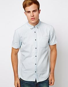River Island Denim Shirt with Polka Dots
