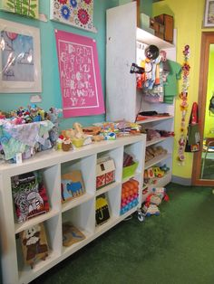 Kids display at Yellow Umbrella, a handmade gift shop in Bemidji, MN