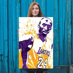 Kobe Bean Bryant poster. Bryant is an American professional basketball player for the Los Angeles Lakers of the NBA. He entered the NBA directly from high school, and he has played for the Lakers his