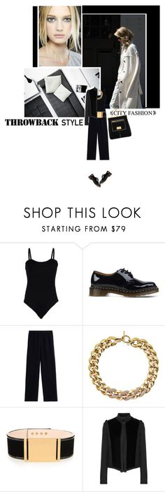"""""""Throwback Style"""" by s-thinks ❤ liked on Polyvore featuring Baguette....., Dr. Martens, Helmut Lang, Michael Kors, Balmain, Lanvin and Chanel"""