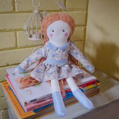 Handmade eco doll with antiallergic filling by SeedsOfLoveHandmade