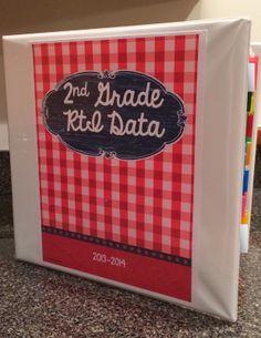 2nd Grade Snickerdoodles blog: RtI Progress Monitoring and Data Organization Freebies