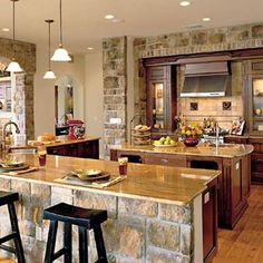 """""""Southern Living"""" Idea House in San Antonio, Texas - Heart Pine RECLAIMED wide plank flooring. Küchen Design, Design Case, House Design, Design Ideas, Wall Design, Beautiful Kitchens, Cool Kitchens, Open Kitchens, Rustic Kitchens"""