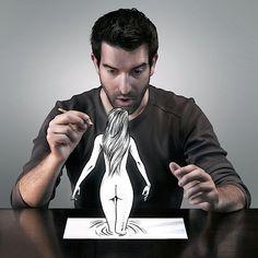 S�bastien Del Grosso kombiniert geschickt Fotografie mit Zeichnungen