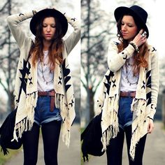 Cardigan, Hat, Shorts - Crazy When You Know How - Agata P