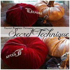 How to Make Velvet Pumpkins--the secret technique for shapely pumpkins!