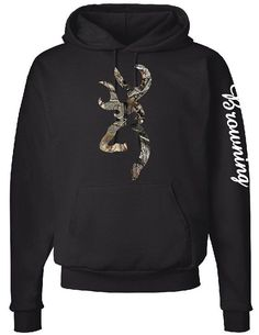 Browning Logo Hoodie, Browning Down Sleeve, Camo Design by CustomCreationsLH on Etsy Cute Country Outfits, Country Girl Style, My Style, Country Hats, Country Life, Browning Logo, Browning Nails, Browning Buckmark, Browning Deer