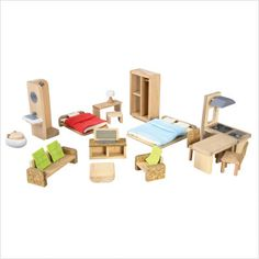 ideas for diy dollhouse:   plan toys dollhouse furniture
