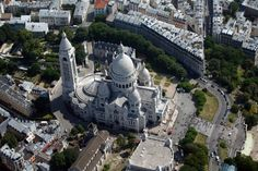 An aerial view shows the Sacre Coeur Basilica and rooftops of residential buildings on Montmartre in Paris July 14 Framed Print Framed, Poster, Canvas Prints, Puzzles, Photo Gifts and Wall Art Paris Vu Du Ciel, Paris France, Cool Pictures, Cool Photos, Amazing Photos, Bastille Day, Sky Photos, Belle Villa, Paris City