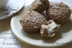 Spiced Oatmeal Apple Muffins (Gluten, Dairy, Egg-free)