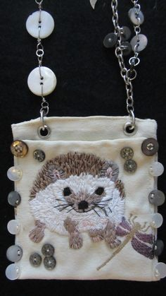 Items similar to Hedgehog Love on Etsy Embroidery Thread, Inventions, Hedgehog, Cute Pictures, Coin Purse, Antiques, Pattern, Projects, How To Make