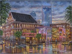 Robert Finale Paintings | ... Front > NEW RELEASES > Robert Finale - Nashville Painting the Town