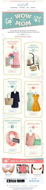 ModCloth Mother's Day email 2014
