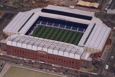 Ibrox Stadium (Glasgow, Scotland) By Archibald Leitch Rangers Football, Rangers Fc, Sport Football, Soccer Stadium, Football Stadiums, Wigan Athletic, Sports Team Logos, Best Club, Glasgow Scotland